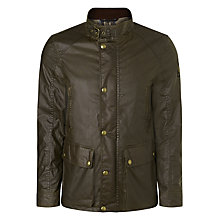 Buy Belstaff Tourmaster Biker Waxed Jacket, Olive Online at johnlewis.com
