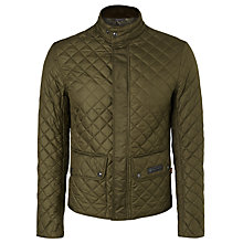 Buy Belstaff Wilson Quilted Jacket, Olive Online at johnlewis.com