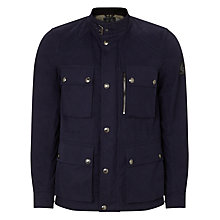Buy Belstaff Trailmaster Four Pocket Waxed Jacket, Navy Online at johnlewis.com