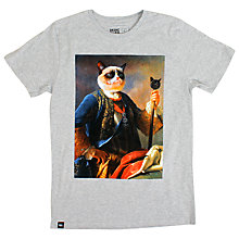 Buy Dedicated Lord Grumpy Graphic Print T-Shirt, Grey Online at johnlewis.com