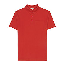 Buy Reiss Watkins Pocket Polo Shirt, Red Online at johnlewis.com