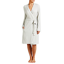 Buy John Lewis Olivia Stripe Robe, Grey Online at johnlewis.com