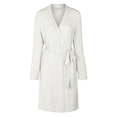 John Lewis Olivia Stripe Robe, Grey