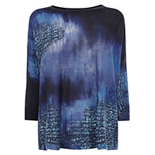 Buy Karen Millen Tie Dye Jumper, Dark Blue Online at johnlewis.com