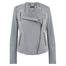 Buy Mint Velvet Leather Suede Jacket Online at johnlewis.com