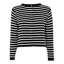 Buy Karen Millen Graphic Stripe Cardigan, Blue/Multi Online at johnlewis.com