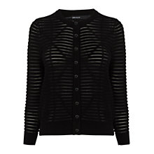 Buy Karen Millen Textured Knit Cardigan, Black Online at johnlewis.com