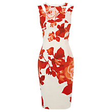 Buy Karen Millen Oversized Floral Dress, Red/Multi Online at johnlewis.com