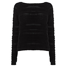 Buy Karen Millen Chunky Jumper, Black Online at johnlewis.com
