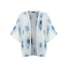 Buy Mint Velvet Silk Lula Print Kimono, Blue Online at johnlewis.com