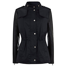 Buy Mint Velvet Faux Leather Jacket, Navy Online at johnlewis.com