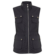 Buy Mint Velvet Quilted Gilet, Steel Grey Online at johnlewis.com