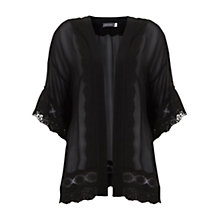 Buy Mint Velvet Lace Trim Kimono, Black Online at johnlewis.com