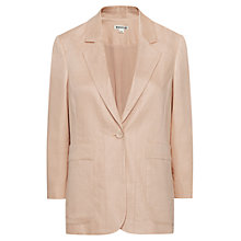 Buy Whistles Lucie Linen Blazer, Neutral Online at johnlewis.com