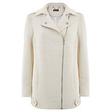 Buy Mint Velvet Biker Coat, Cream Online at johnlewis.com