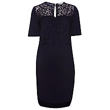 Buy Whistles Leila Lace Dress, Navy Online at johnlewis.com