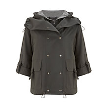 Buy Mint Velvet Short Parka Coat, Khaki Online at johnlewis.com