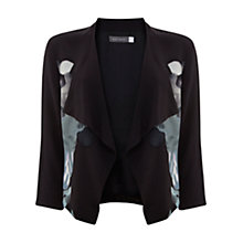 Buy Mint Velvet Joanna Print Jacket, Black Online at johnlewis.com