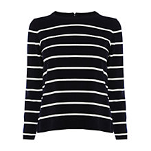Buy Karen Millen Graphic Stripe Jumper, Blue/Multi Online at johnlewis.com