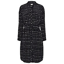 Buy Whistles Shibori Spot Shirt Dress, Black/Multi Online at johnlewis.com