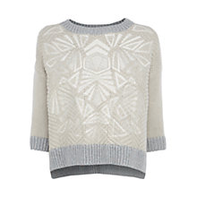 Buy Karen Millen Chunky Tribal Jumper, Neutral Online at johnlewis.com
