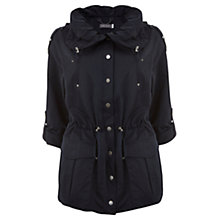 Buy Mint Velvet Patch Pocket Parka Coat, Blue Navy Online at johnlewis.com