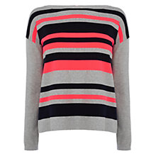 Buy Karen Millen Bold Neon Stripe Jumper, Multi Online at johnlewis.com