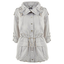 Buy Mint Velvet Patch Pocket Parka, Stone Online at johnlewis.com