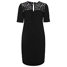 Buy Whistles Leila Lace Dress, Black Online at johnlewis.com