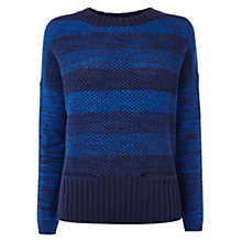 Buy Karen Millen Chunky Knitted Jumper, Blue Online at johnlewis.com