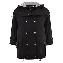 Buy Mint Velvet Short Parka Coat, Black Online at johnlewis.com