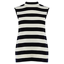 Buy Karen Millen Sleeveless Stripe Knit Top, Blue/Multi Online at johnlewis.com