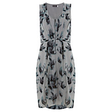 Buy Mint Velvet Zena Print Zip Front Dress, Grey Online at johnlewis.com