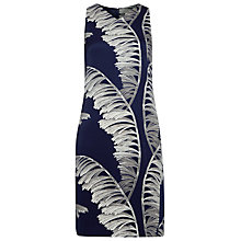 Buy Whistles Bamboo Print Silk Dress, Royal Blue/White Online at johnlewis.com