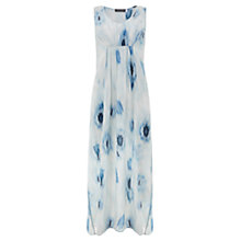 Buy Mint Velvet Silk Lula Print Maxi Dress, Blue Online at johnlewis.com