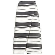 Buy Whistles Hayley Stripe Wrap Skirt, Black/White Online at johnlewis.com