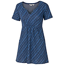 Buy Fat Face Falmouth Diamond Print Tunic Top, Dark Chambray Online at johnlewis.com