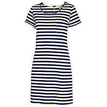 Buy Fat Face Tenby Striped Dress, Dark Chambray Online at johnlewis.com