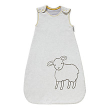 Buy John Lewis Sheep Applique Baby Sleep Bag, 2.5 Tog, Grey Online at johnlewis.com