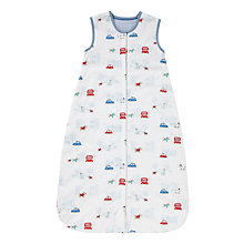 Buy John Lewis Dog Print Baby Travel Sleep Bag, 2.5 Tog, White/Blue Online at johnlewis.com