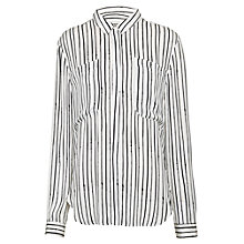 Buy Whistles Romy Drawn Stripe Top, Black/White Online at johnlewis.com