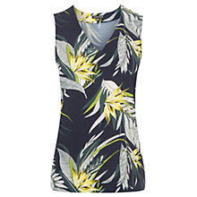 Buy Warehouse Leaf Print V-Neck Top, Multi Online at johnlewis.com