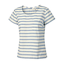 Buy Fat Face Bridport Textured Stripe T-shirt, Ivory Online at johnlewis.com