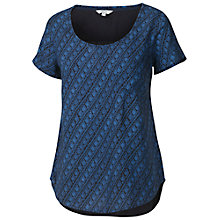 Buy Fat Face Jasmine Diamond Print Shell Top, Dark Chambray Online at johnlewis.com
