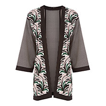Buy Warehouse Leaf Print Kimono, Multi Online at johnlewis.com