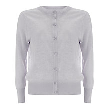 Buy Mint Velvet Linen Cardigan, Purple Mist Online at johnlewis.com