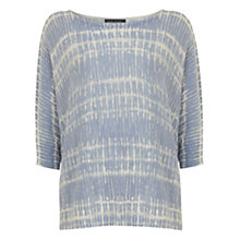 Buy Mint Velvet Printed Cotton Jumper, Aegean Online at johnlewis.com
