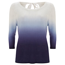 Buy Mint Velvet Dip Dye Knit Jumper, Ivory/Iris Online at johnlewis.com
