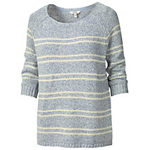 Buy Fat Face Bossiney Stripe Jumper, Blue Breeze Online at johnlewis.com