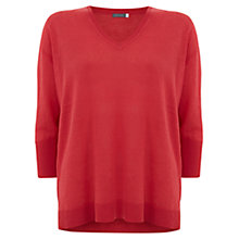 Buy Mint Velvet Boxy Linen Jumper, Papaya Online at johnlewis.com